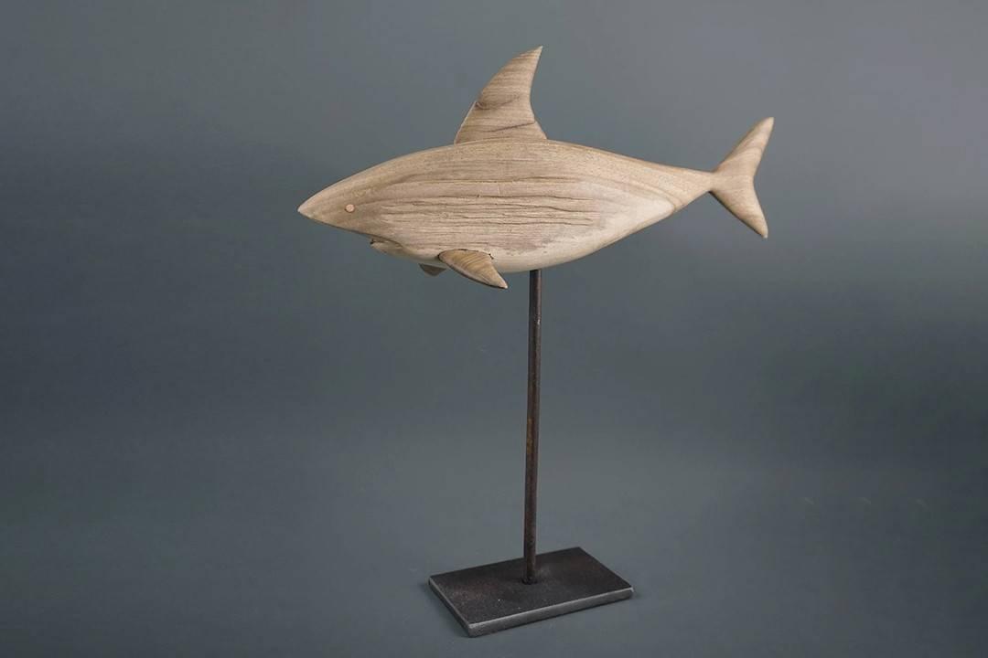 Figurka drewniana - Rekin