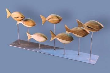 Figurka drewniana - Ławica