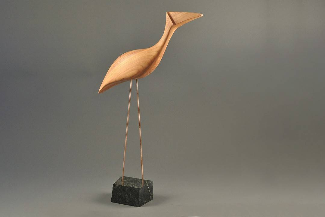 Figurka drewniana - Ptaszek VI