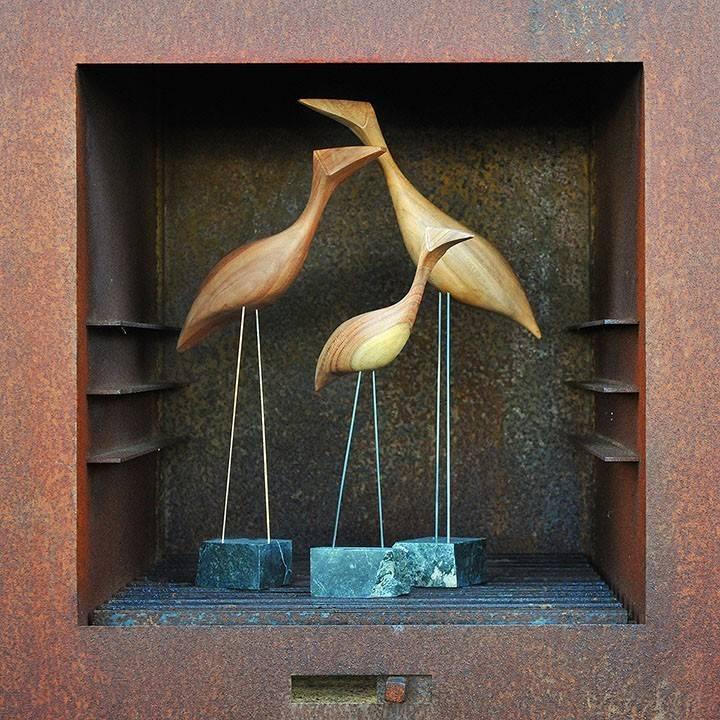Figurka drewniana - Ptaszek IX