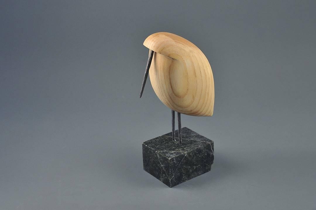 Figurka drewniana - Ptaszek XVI