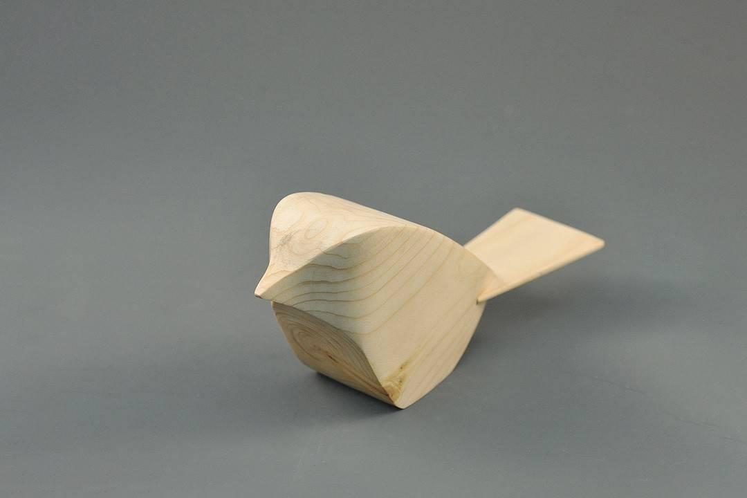 Figurka drewniana - Wróbelek I