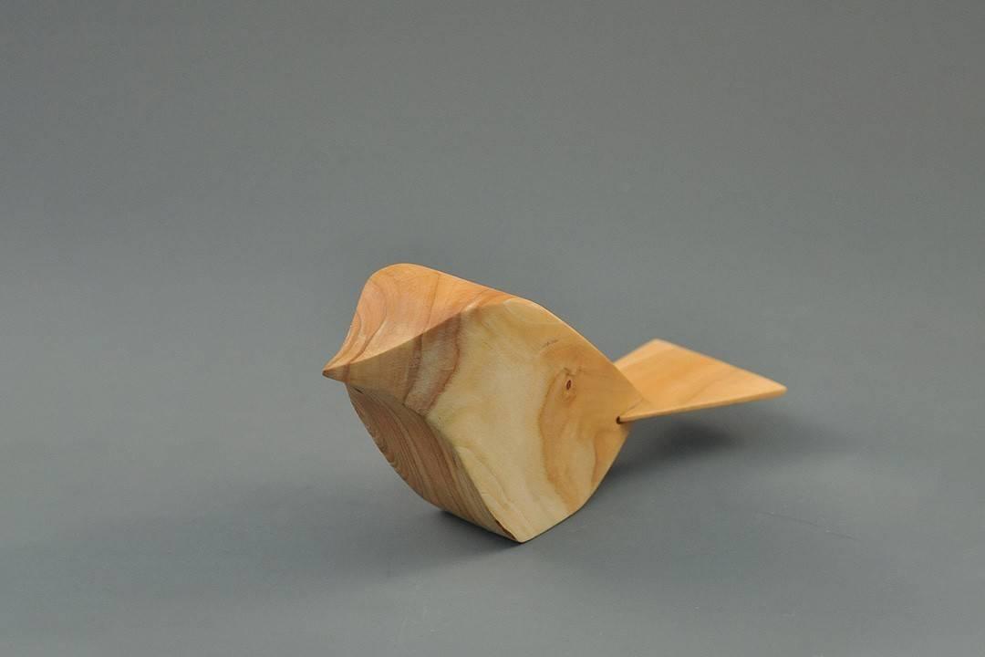 Figurka drewniana - Wróbelek IV