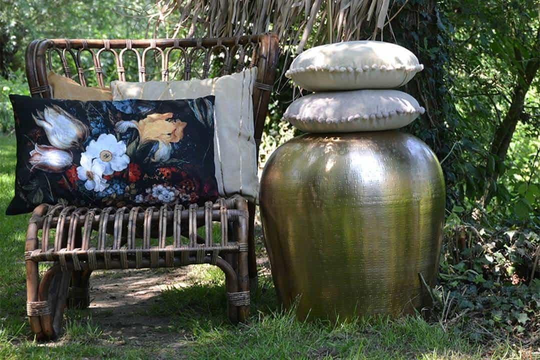Poduszka ogrodowa dekoracyjna Moke kość słoniowa