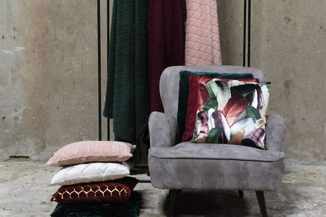 Poduszka ogrodowa dekoracyjna Torvi pudrowy róż