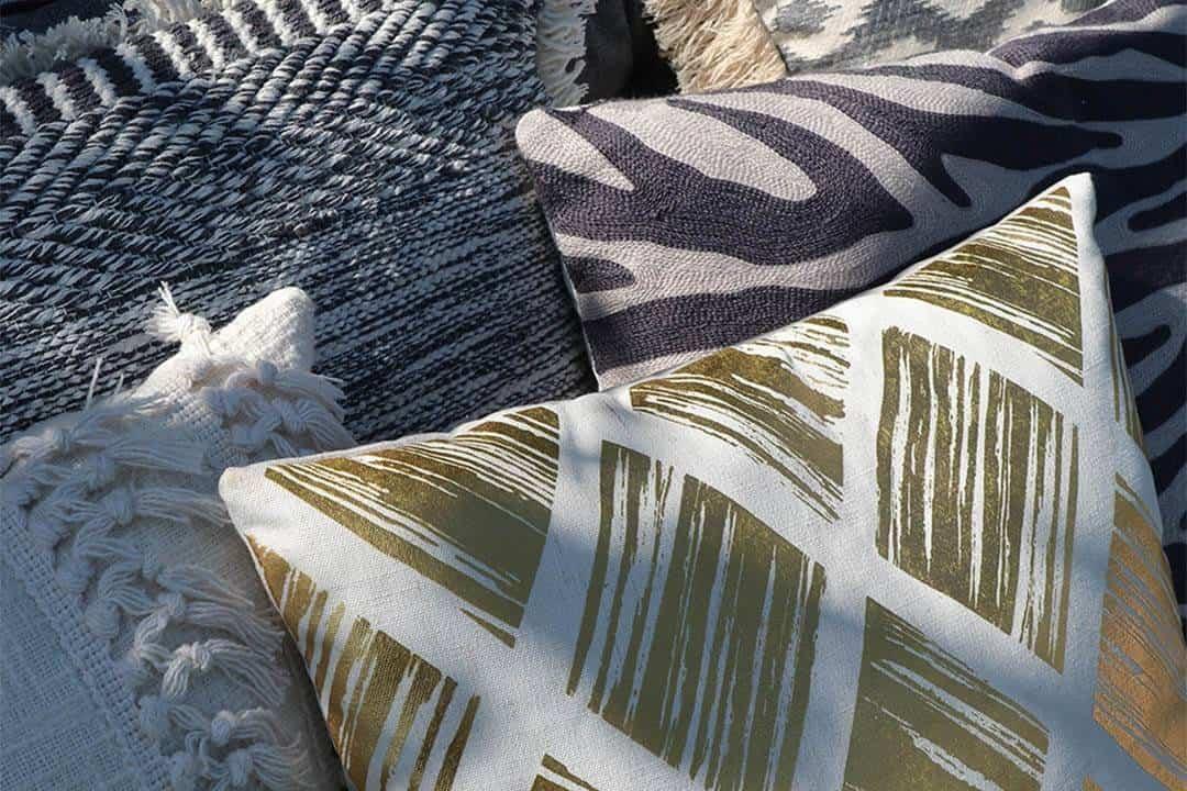 Poduszka ogrodowa dekoracyjna Brent żółta