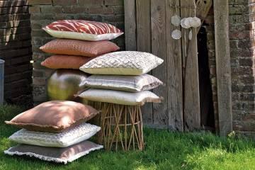 Poduszka ogrodowa dekoracyjna Geza szara