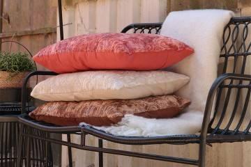 Poduszka ogrodowa dekoracyjna Torvi pomarańczowa