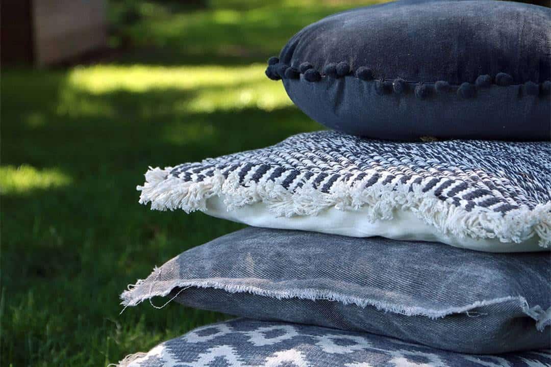 Poduszka ogrodowa dekoracyjna Kani błękitna