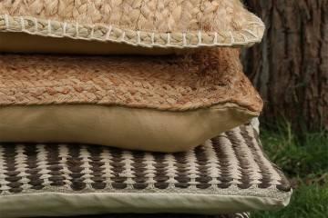 Poduszka ogrodowa dekoracyjna Evita brązowa