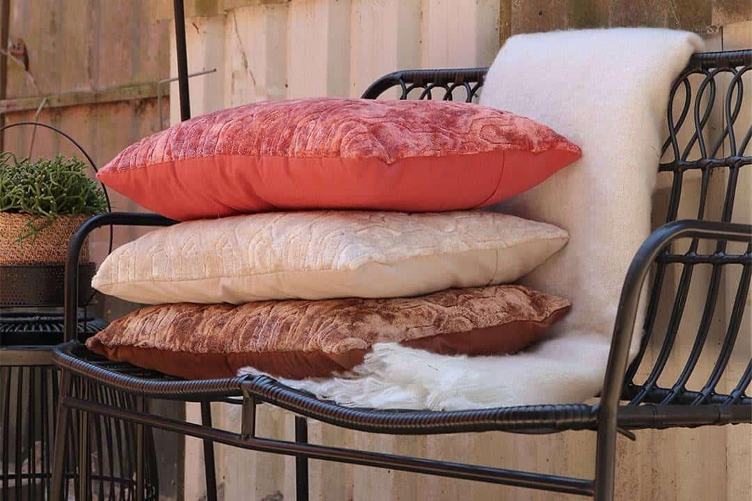 Poduszka ogrodowa dekoracyjna Senza różowa