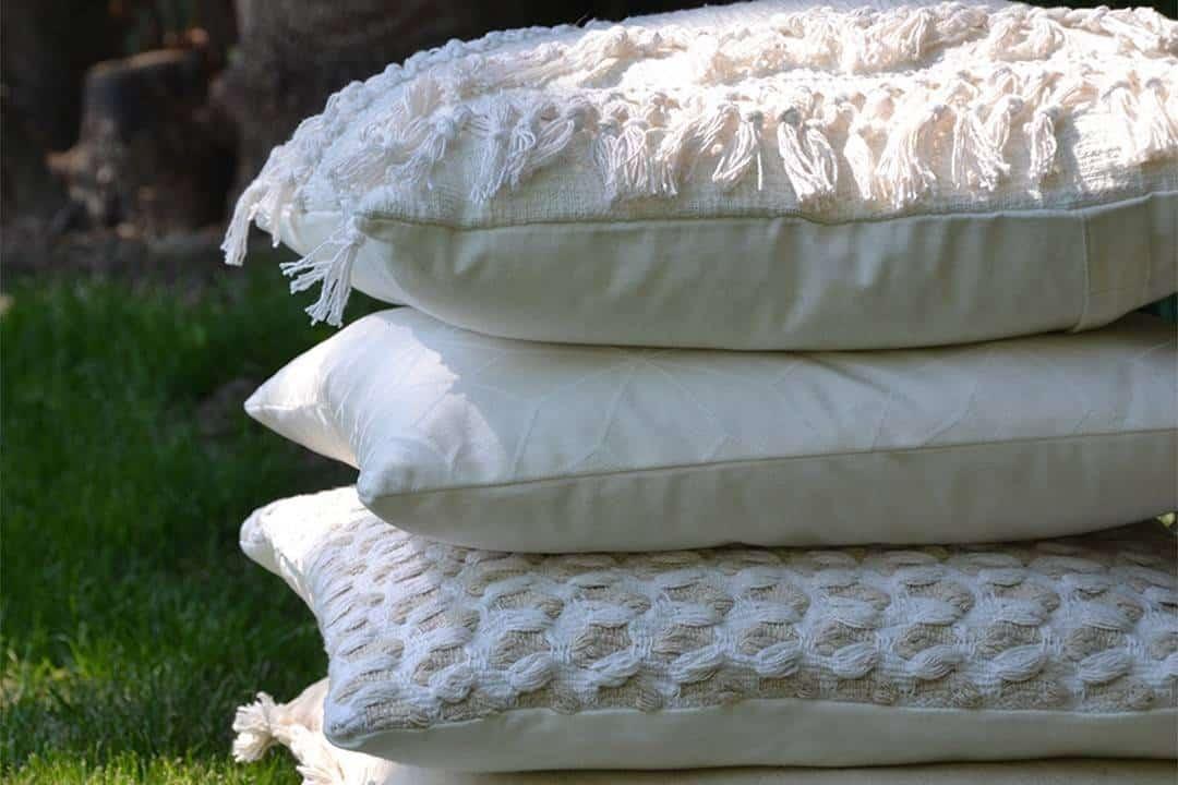 Poduszka ogrodowa dekoracyjna Evita kość słoniowa