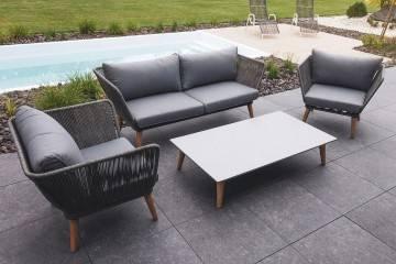 nowoczesne meble tarasowe: Meble ogrodowe CORFU IV