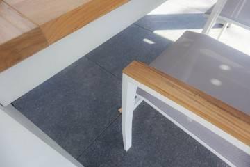 Zestaw ogrodowy MADRIT - LEON teak light grey / white 675